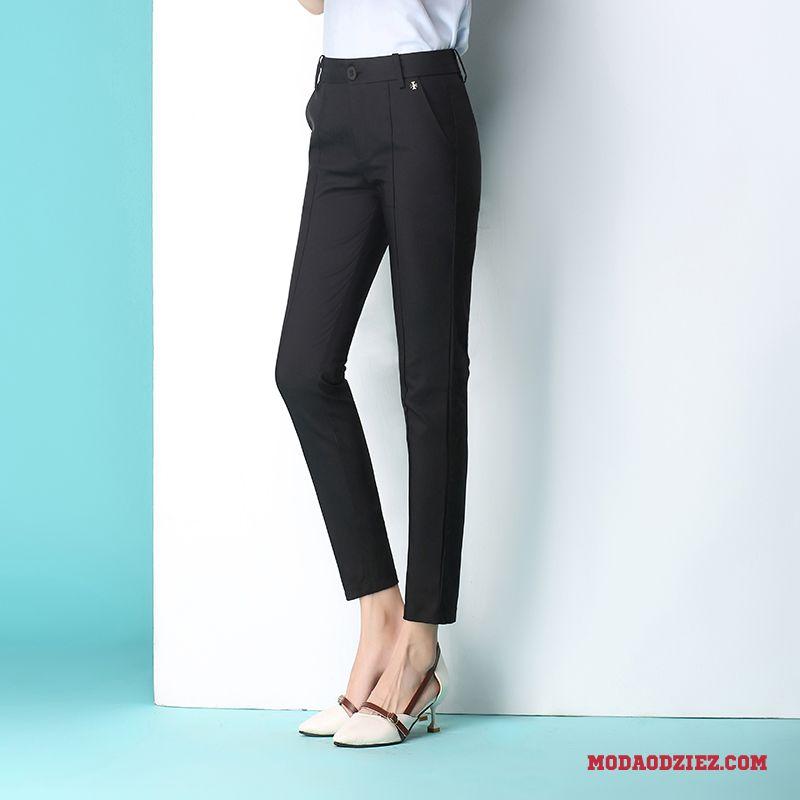 Casualowe Spodnie Casual Wysoki Stan Lato Wiosna Legginsy Ołówkowe Spodnie Damskie Cienkie