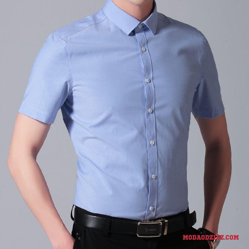 Koszula Z Krótkim Rękawem Sukienka Casual Cienkie Męskie  e36IO