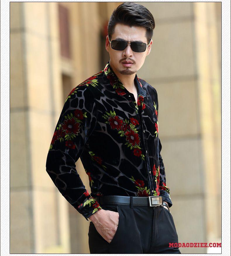 Koszula Nowy Męskie Lato Jedwabna Moda Wiosna Cienkie Sprzedam  pr6QL