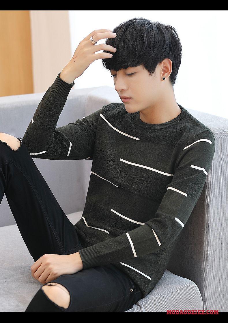 Sweter Nowy Wiosna Jesień Męskie Swetry Moda Tendencja Student