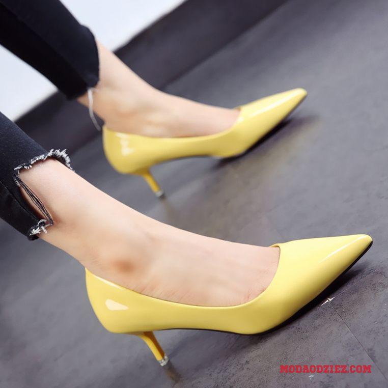 buty damskie w szpic wiosna 2018