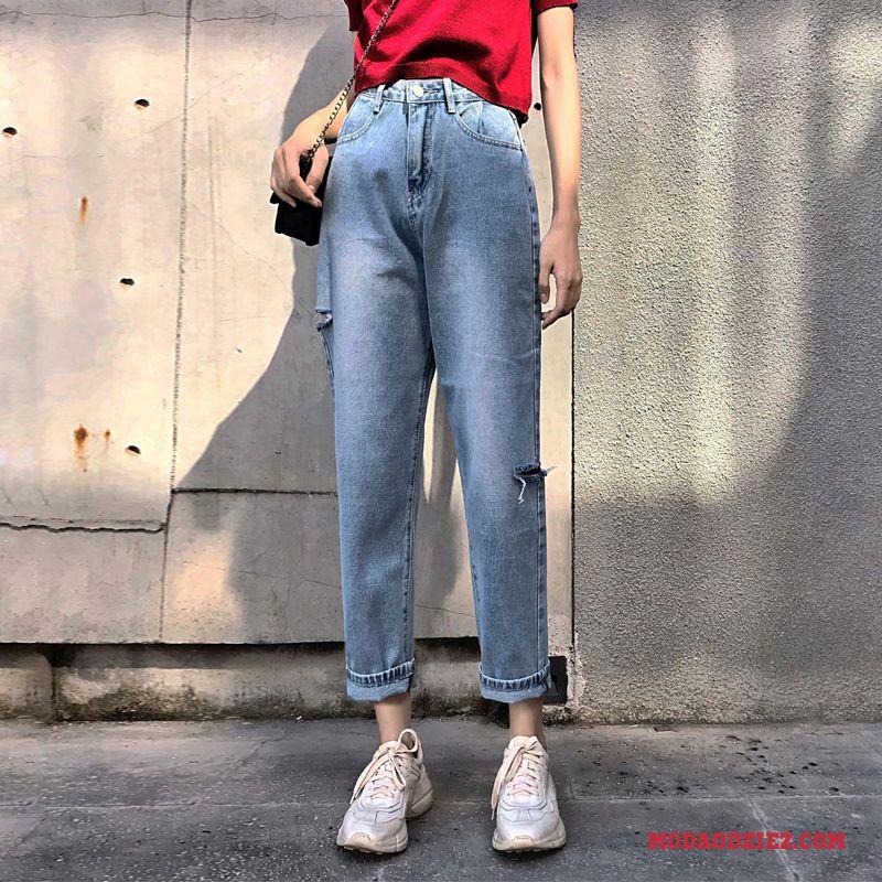 fc51148d0e2701 Szerokie Spodnie 2019 Wysoki Stan Damskie Cienkie Dżinsy Czerwony Sprzedam