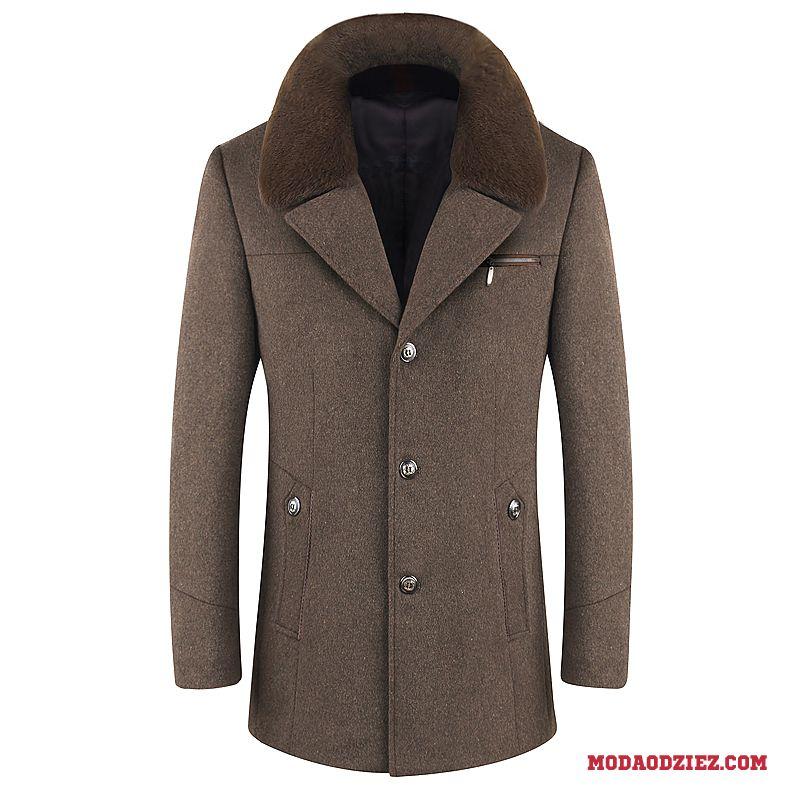 Płaszcze zimowe męskie wełniane Płaszcze zimowe męskie