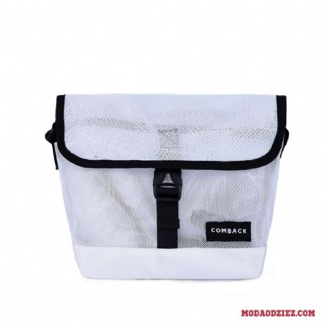 b06d741fe5fe4 Torba Na Ramię Casual Plecak Siatkowe Męskie Prosty Sportowe Trendy Biały